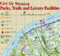 Maps of Windsor's Bike Lanes, Bike Routes, and Multi-Use Paths