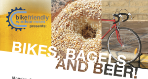 Bikes Bagels and Beer - Monday, Sept 30 @ Walkerville Brewery Screening Bike City, Great City! Show You Care about Cycling - Renew Your Membership and Win Cool Stuff!